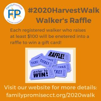 #2020HarvestWalk Walker's Raffle